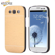 KISSCASE Hard Aluminum Metal Back Cover + Plastic Frame Cases For Samsung Galaxy S3 Armor Phone Back Case Covers For Galaxy S3