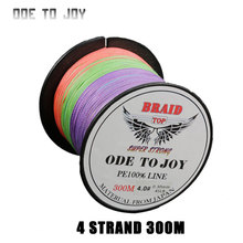 300M 4 strand Super Strong PE Braided Fishing Line 10-80LB PE Fishing Line black Wire coil Carp Fishing Saltwater
