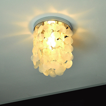 Natural shell lamp, corridor, ceiling lamp, deep sea shell art, simple and personalized decorative lamps and lanterns