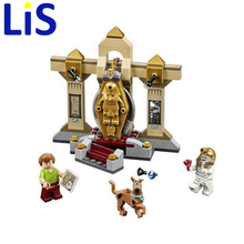 Lis 109pcs Scooby Doo Dog Mummy Museum Mystory Building Kit Toys Shaggy Dr. Christmas gift Bela 10428 toy S054