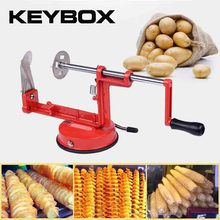 KEYBOX New Tornado Spiral Potato Cutter Slicer Twist Potato Cutting Machine Potato Clips Slicer Cutter Tower Vegetable Cooking(China)