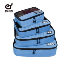 "ECOSUSI Breathable Travel Bag 4 Set Packing Cubes Luggage Packing Organizers with Shoe Bag Fit 23"" Carry on Suitcase(China)"