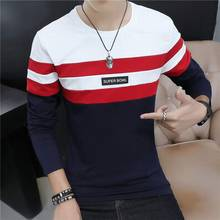 SHIFOPUTI Antumn Latest Design Men's Patchwork Long Sleeve T-shit Casual Fashion Comfortable Brand Clothing T shirt Tops Tee(China)