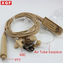 XQF Skin Headset Acoustic Air Tube Earpiece Earphone PTT for Motorola GP328 GP338 GP340 GP380 Radio Walkie Talkie