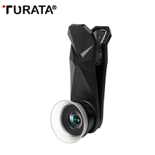 TURATA Professional HD Phone Camera Lens Aluminum Alloy Double-sided Coating Super 12-24X Macro Lens for Smartphone Mobile Phone