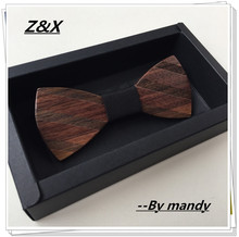 New High Quality butterfly men Tie Bow 2015 Fun Personality Wooden Bow Ties Bowtie Butterflies Great Gift Factory Price(China)