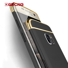 Luxury Plating 3 in 1 Matte Case For Samsung Galaxy S6 S7 Edge S8 Plus Shockproof Case For Samsung Note 8 Phone hard Shell(China)