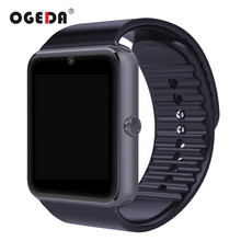 Buy OGEDA Smart Watch Men GT08 Clock Sync Notifier Support Sim Card Bluetooth Connectivity IOS Android Smartwatch Rubber Watch for $14.99 in AliExpress store
