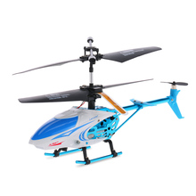 Mini Helicopter Qun Yi Toys QY66-X07E 3.5CH Infrared Control Letters Patterns LED Alloy RC Helicopter(China)