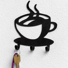 Creative Coffee Cup Design Metal Wall Mounted 3 Hooks Hanger Clothes Hat Bag Key Hanging Holder Rack Organizer Home Decoration