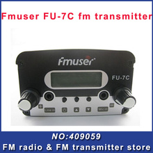 FREE SHIPPING CZH FU-7C 7w fm transmitter broadcast transmitter FM radio station cheap portable wireless station(China)