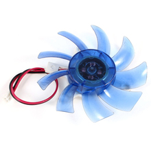 75mm 12VDC Blue Plastic VGA Video Card Cooling Fan Cooler for Computer