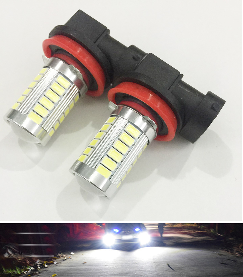 Car led 1 Pcs H11 H8 Led High Power 5730 33 LED led car Fog lamp Headlight Bulbs white DRL Driving Light Daytime Running Light<br><br>Aliexpress