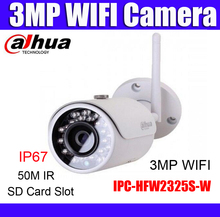 Dahua wifi ip camera IPC-HFW2325S-W replace IPC-HFW1320S-W 3MP IP67 SD Card slot wireless outdoor camera Russian english french