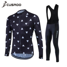 CUSROO Men's long Sleeve Cycling Jersey sets specialized bicycle cheap cycle clothing Maillot Racing Bike Clothes jersey team(China)