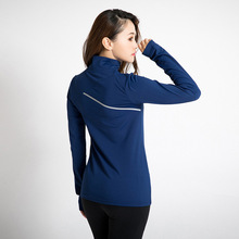 ESHINES Women's Autumn Sports Stand collar Running Jacket Gym Fitness Workout Quick Dry Elastic Zippered Outdoor Sports Top(China)