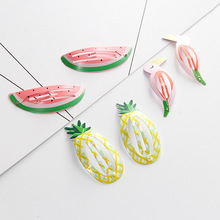 2 PCS Pineapple Watermelon Fruit Birdie BB Clips Hairpins Girls Hair Accessories Children Headwear Baby Hair Clips Headdress