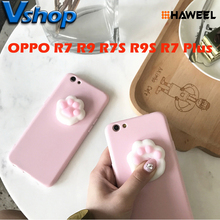 OPPO Squishy Phone Case for OPPO R7 R7S R7 Plus 3D Squishy Cute Cat Claw Soft Mobile Phone Case for OPPO R9 R9S R9 Plus(China)