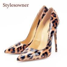 Mode sexy ladies Leopard chaussures discothèque hauts talons SCfHasv4