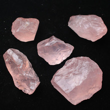 Mayitr 5-6cm Natural Pink Quartz Crystal Stone Rock Mineral Specimen Collectible DIY Decoration