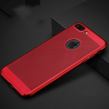 2017 New For Apple iPhone 7 Case 5 5s SE Honeycomb Back Cover Heat Dissipation Cooling Housing For iPhone 6 6s Plus Phone Cases