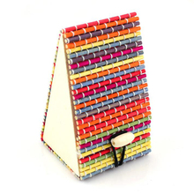 Creative Rainbow Color Wood Jewelry Organizers Cute Small House Necklace Jewelry Storage Box Handwork Storage Case Desktop Decor