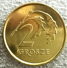 17.5mm Poland 2 Grosze Coin European  Collectibles Commemorative