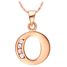 Selfdom Mignon Letter O P Q R S T U  Jewelry Pendant Necklace Women Rose Gift Birthday Pendants Christmas Fashion