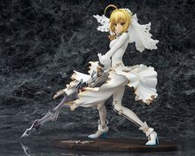 Saber Fate/Apocrypha Grand Order Nero Wedding dress Action Figure Game toys PVC 22CM Collection Model(China)