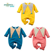 Novelty infant baby/kid long sleeve autumn/winter rompers boys/girls solid coverall baby wear clothes Halloween Christmas(China)
