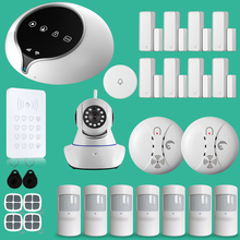 ios android app control GSM alarm system with touch screen easy operation home alarm system(China)
