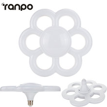 E27 35W LED Bulb Plum Blossom Ring Light Downlight Lamp AC 220V Super Bright Ceiling Lights For Home Decor Lamps Warm Cool White(China)