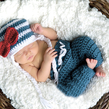 0 to 6 months Baby Photo Props Newborn Baby Girls Boys Crochet Knit Costume Photo Photography Prop Out Baby Clothing(China)