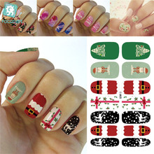 Rocooart K5683 2016 Water Transfer Nails Art Sticker Merry Christmas Snow Manicure Decor Decals Wraps Stickers for Nail(China)