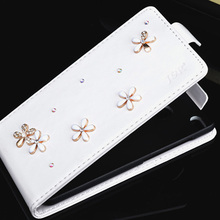Leather Case For Alcatel One Touch Pixi 4 5.0 OT 5010 5010D Diamond Cover For Alcatel 5010D Case Bling Crystal Rhinestone Bags