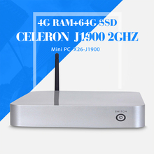 Ultra-Low-Power celeron J1900 4gb Ram 64gb Ssd Fan Mini Pc Desktop Computers Factory Of Keyboard Wired Support Win 7 XP System