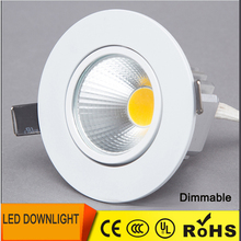 Dimmable LED Downlight  6W 9W 12W Spot LED DownLights Dimmable cob LED Spot Recessed down lights for living room 110v 220v