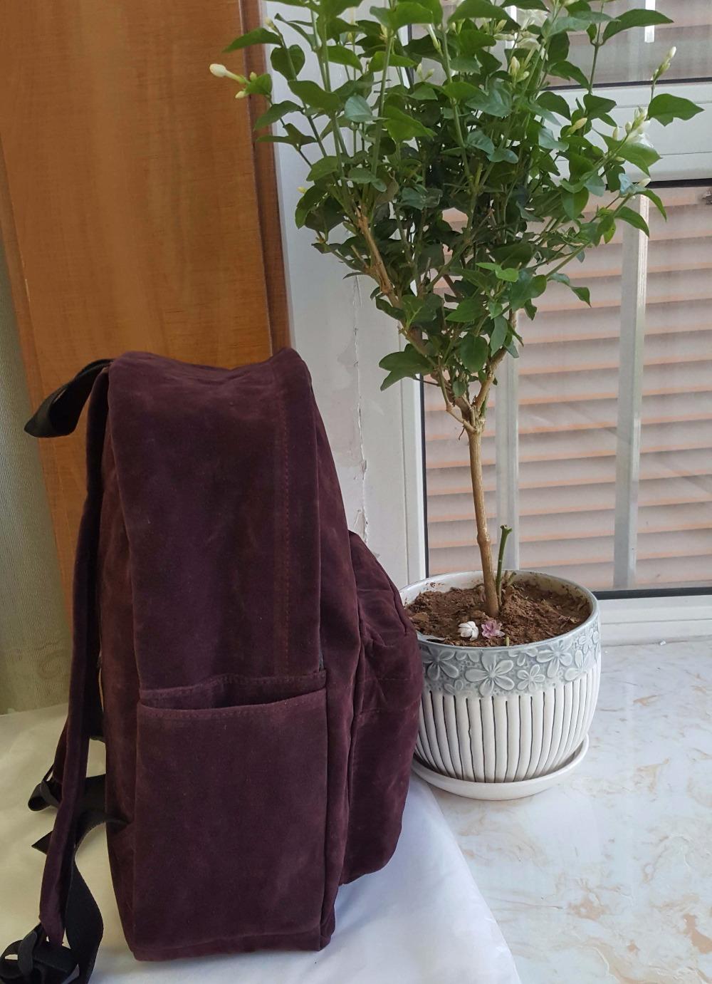 backpack suede bag (3)