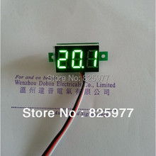 Green  Digital Voltmeter 99.9V DC Slim LED Digital Panel Meters Car Motorcycle Battery Monitor Voltmeter EarMotor DIY ter
