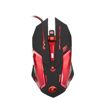 Wired USB gaming gaming macro definition mouse colorful breathing light metal backplane design(China)
