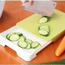 Special offer export kitchen PP double block creative cutting board multi-function receive board board manufacturers(China)