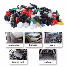 1Set of 500Pcs Mixed Auto Fastener Vehicle Car Bumper Clips Clip Buckle Retainer Door Panel Fender Rivet Liner for All Car(China)