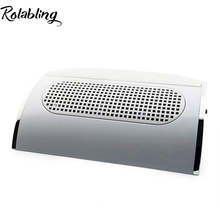 Rolabling 110V&220V Nail Dryer Machine Nail Dust Suction Collector Manicure Filing Acrylic UV Gel Tip Machine Nail Art Equipment