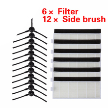 24pcs/set High quality Brush & Filters for ILIFE A4 Cleaning Robot Replacement chuwi ilife A4 Robot Vacuum Cleaner hepa filter(China)