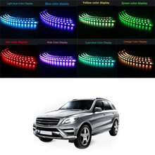 Eight in One Atmosphere Lights Ambient Lighting RGB Lights auto Car LED Lights lamps Car Decorative lamp Bulbs