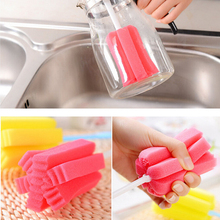1PC Cup Brush Kitchen Cleaning Tool Sponge Brush For Wineglass Bottle Coffe Tea Glass Cup Drop Shipping& Wholesale Free Shipping