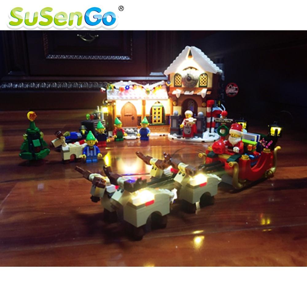 SuSenGo LED Light Kit For 33024 Santas Workshop Building Block Toys Decorate Set Compatible With 10245<br>