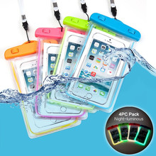 Waterproof Universal Size Cell Phone Case Underwater Cell Phone Dry Bag Pouch For iPhone 7 6 6S 5 5s plus Samsung Xiaomi HTC