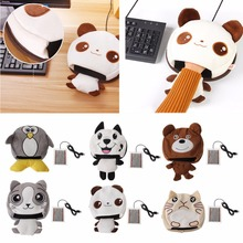 Practical Cute Animal Cartoon Thick Plush Winter Heated Warm Mouse Pad Hand Warmer USB Port(China)