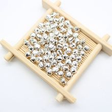 1000pcs/lot 6mm Silver Loose Beads Small Jingle Bells Christmas Decoration Pendants DIY Ornaments Handmade Crafts Accessories